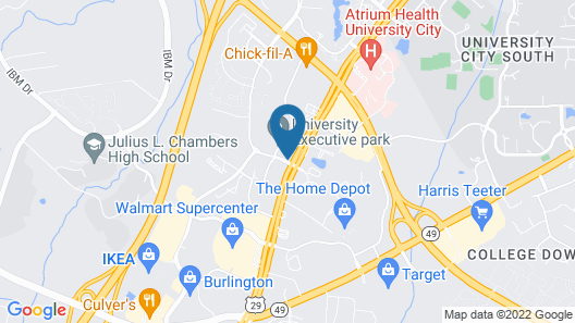Country Inn & Suites by Radisson, Charlotte University Place, NC Map