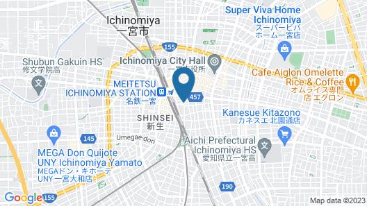 Toyoko Inn Nagoya Owari Ichinomiya Ekimae Map