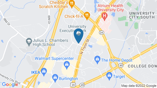 Extended Stay America - Charlotte - University Place Map