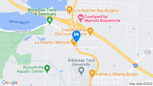 Econo Lodge Russellville I-40 Map