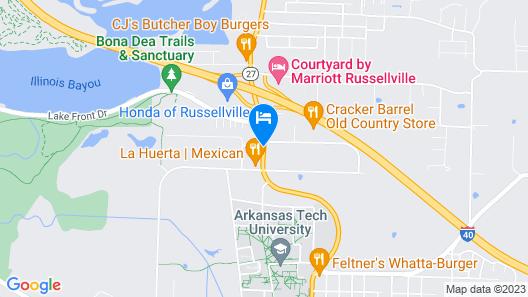 Hampton Inn Russellville Map
