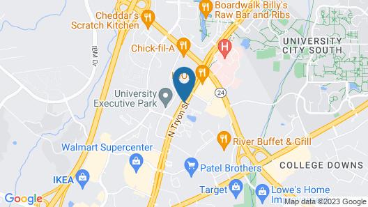 Hampton Inn Charlotte - University Place Map