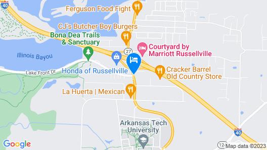 Super 8 by Wyndham Russellville Map
