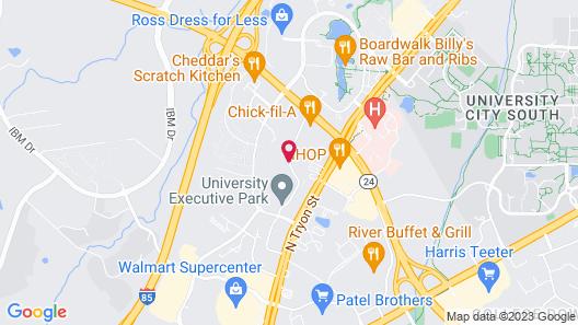 Holiday Inn Charlotte University Executive Park Map