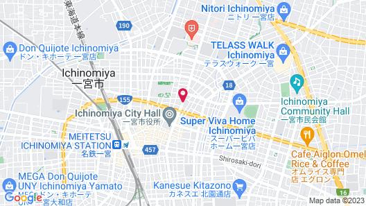 Peace International hotel Ichinomiya Map