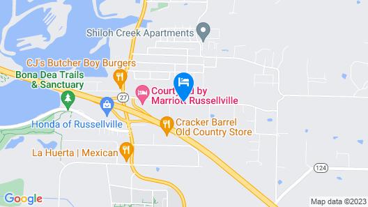 Courtyard by Marriott Russellville Map