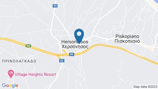 Cook's Club Hersonissos Crete Map