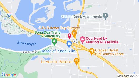 Motel 6 Russellville, AR Map