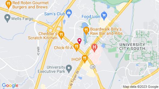 Hilton Charlotte University Place Map