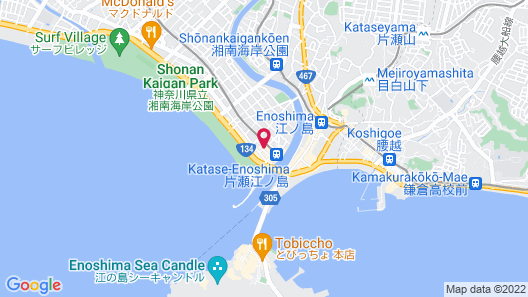 Enoshima Guest House 134 - Hostel Map