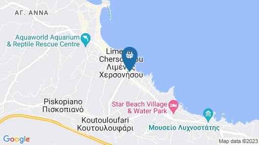 Arlen Beach Hotel  Map