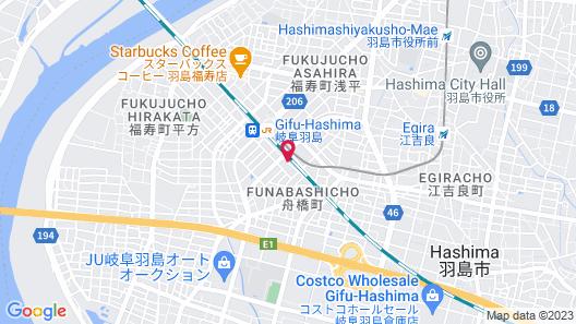 Toyoko Inn Gifu-hashima-eki Shinkansen Minami-guchi Map