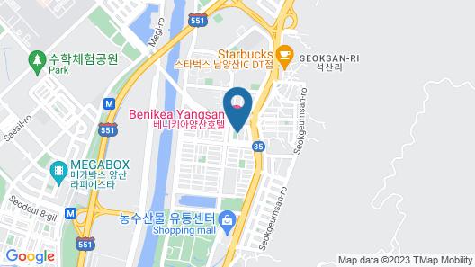 Benikea Yangsan Hotel Map