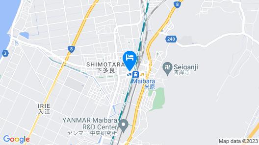 Toyoko Inn Maibara-eki Shinkansen Nishi-guchi Map