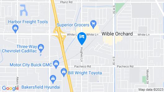 Holiday Inn Express Bakersfield Map