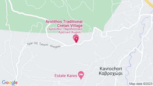 Arolithos Traditional Cretan Village Map