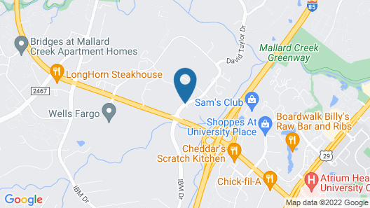 SpringHill Suites by Marriott Charlotte Univ. Research Park Map