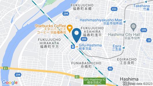 Hotel Route-Inn Gifu Hashima Ekimae Map
