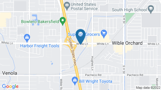 Motel 6 Bakersfield, CA - South Map