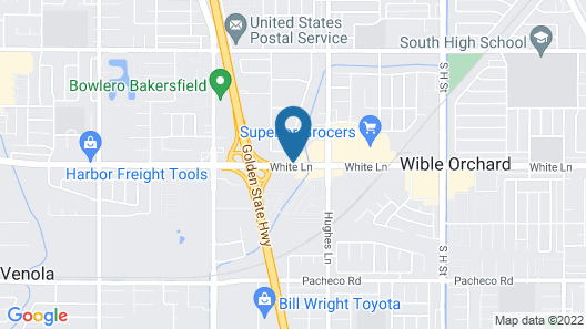 Howard Johnson by Wyndham Bakersfield Map