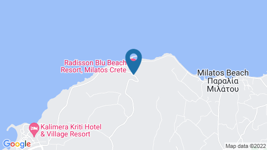 Radisson Blu Beach Resort, Milatos Crete Map
