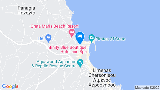 Infinity Blue Boutique Hotel and Spa - Adults Only Map