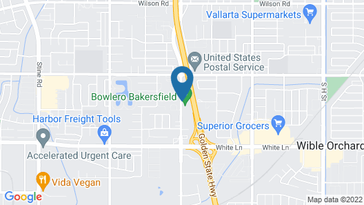 Super 8 by Wyndham Bakersfield South CA Map
