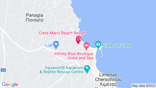 Creta Maris Beach Resort - All Inclusive Map