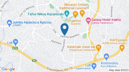 """Akalli"" Luxury Apartment in Heraklion, Crete. Map"