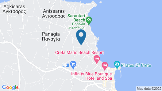 Hersonissos Village Hotel & Bungalows - All inclusive Map