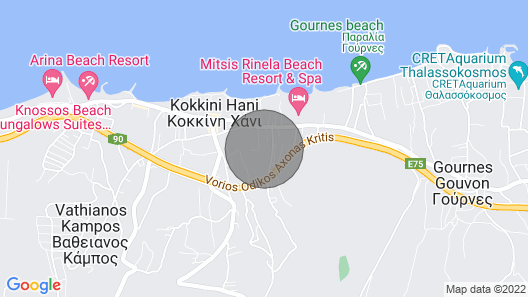 Family Home With Private Garden Near the Beach Map