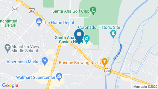 Santa Ana Star Casino Hotel - Adult Only Map