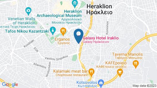 Galaxy Hotel Iraklio Map
