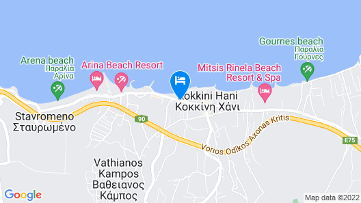 Almare Beach Hotel Map