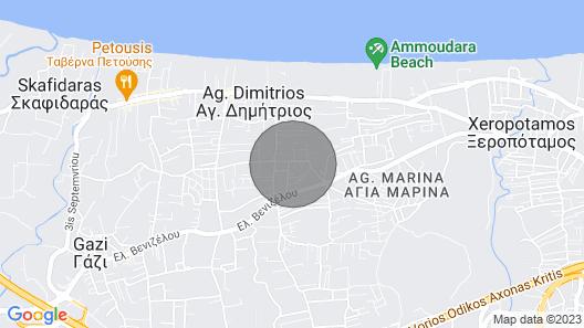 Cozy Apartment in Amoudara Heraklion Creta Map