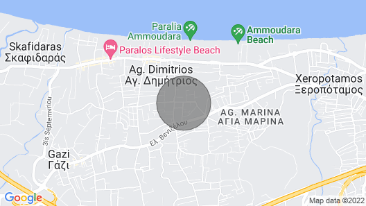 Cozy Apartment Heraklion Ammoudara-3 Map
