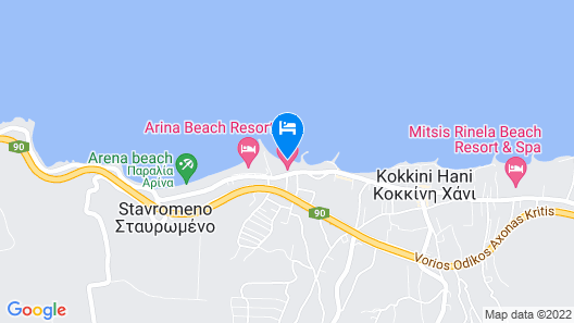 Knossos Beach Bungalows Suites Resort & Spa Map