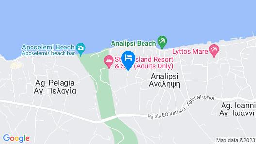 Stella Island Luxury resort & Spa - Adults Only Map