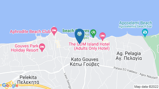 Gouves Bay Hotel Map