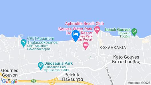 Astir Beach Hotel Map
