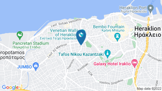 Modern apartment in the center of Heraklion Map