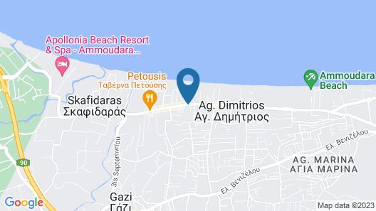 Santa Marina Beach Resort & Spa Map
