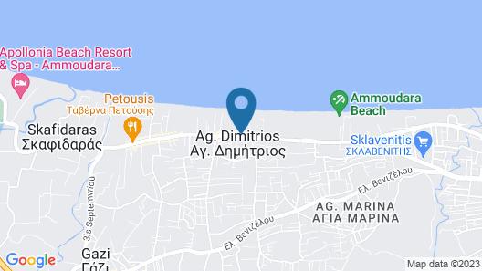 Agapi Beach Resort - All Inclusive Map