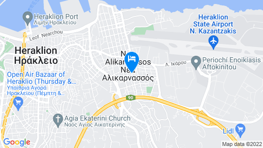 Sofia Hotel Map
