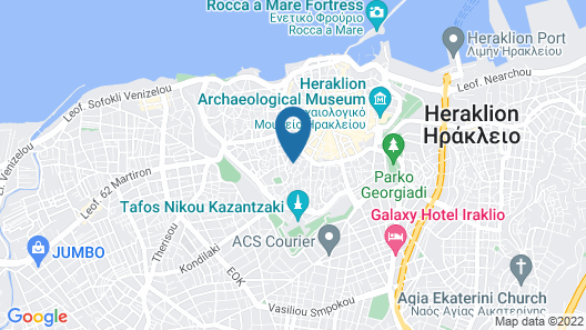 Central Penthouse in Heraklion Map