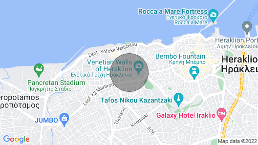 Luxury accommodation in Heraklion center Map