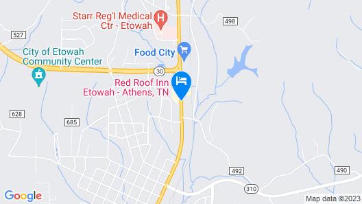 Red Roof Inn Etowah – Athens, TN Map