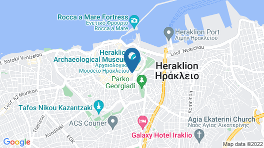 Capsis Astoria Heraklion Hotel Map