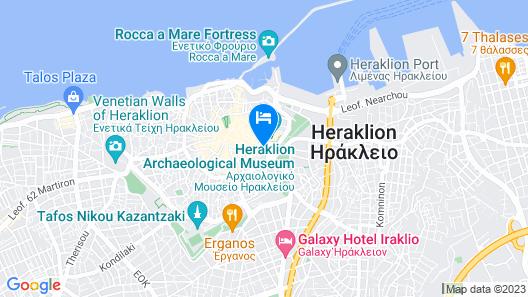 Capsis Astoria Heraklion Hotel Map
