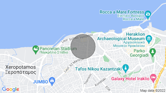 Maisonette near beach & city centre Olia Map